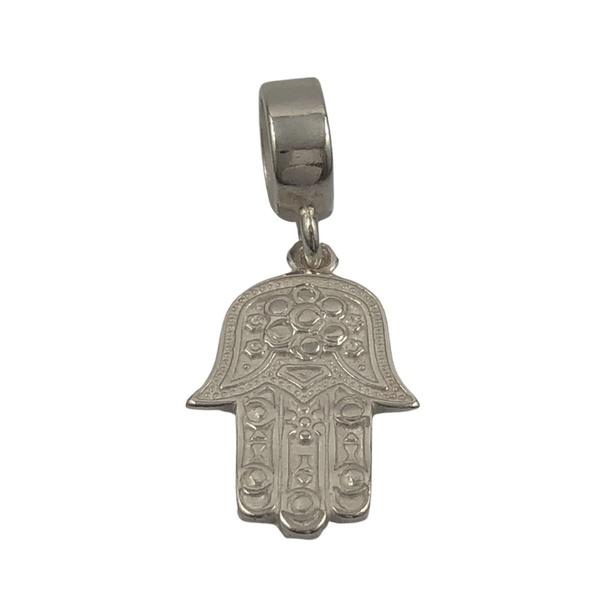 Berloque Mão de Hamsa em Prata 925