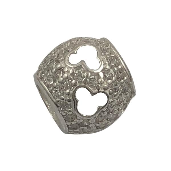 Berloque Mickey Cravejado de Zircônias em Prata 925