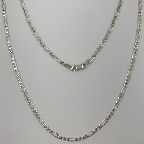 Corrente 3 em 1 de 2,9 mm em Prata 925