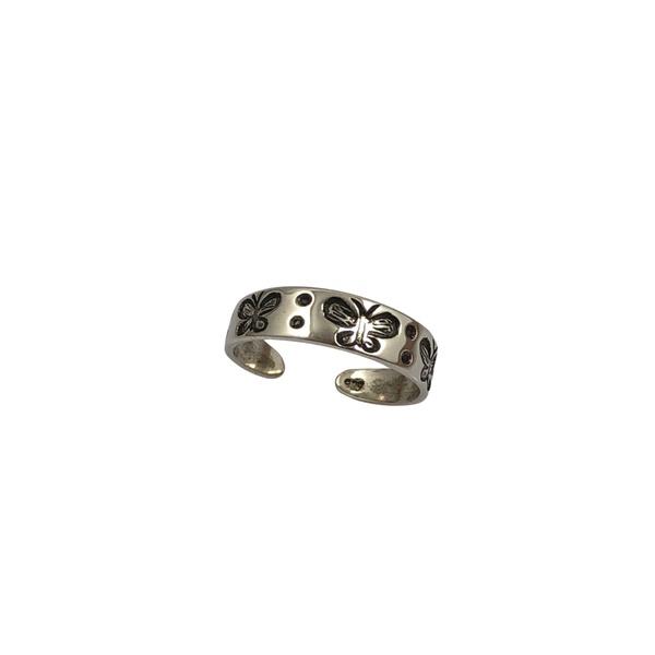 Falange Borboletas em Prata 925