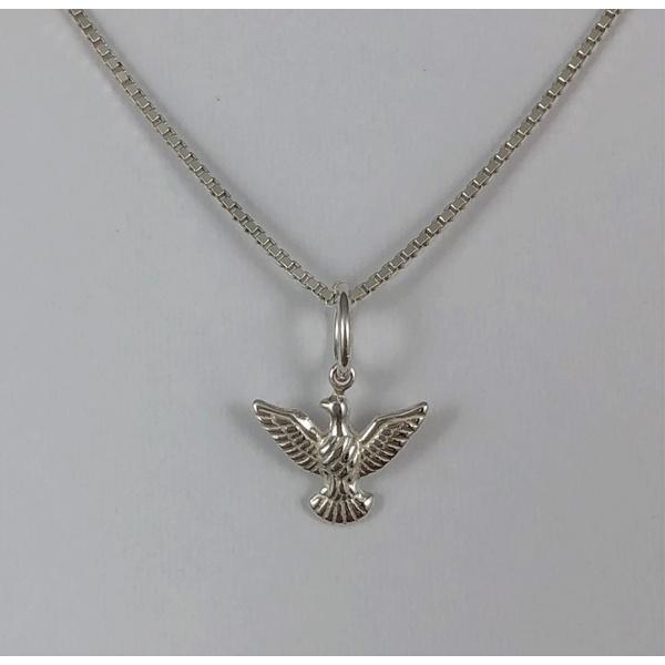 Pingente Mini Espírito Santo em Prata 925