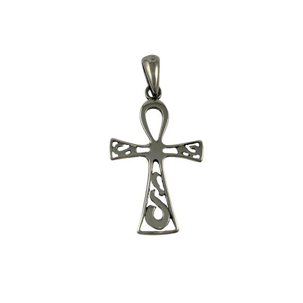 Pingente Cruz Ansata em Prata 925