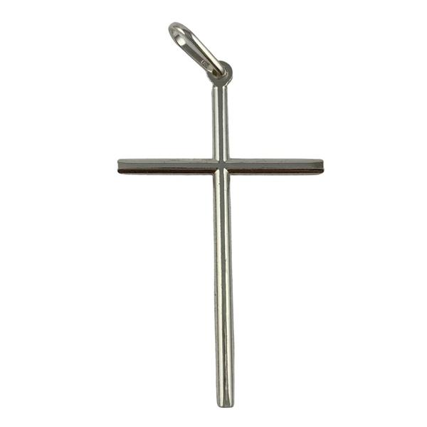 Pingente Cruz Lisa em Prata 925