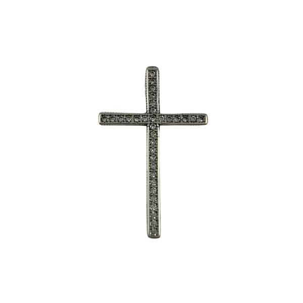 Pingente Cruz com Zircônias em Prata 925