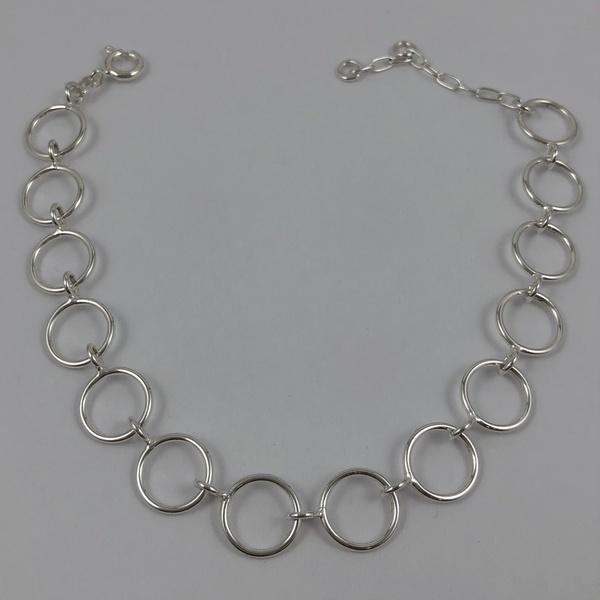 Pulseira Círculos em Prata 925
