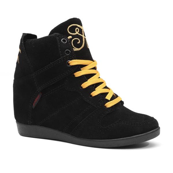 Tênis Sneaker LandFeet Cris Piza 02 Preto Dourado