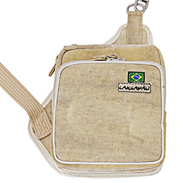 Bolsa Tira Colo em Lona - Modelo Pochete Cartucheira Shoulder Bag UNISSEX