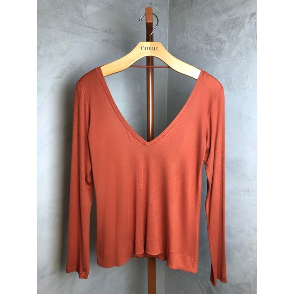 BLUSA MANGA LONGA DALLAS TERRACOTA