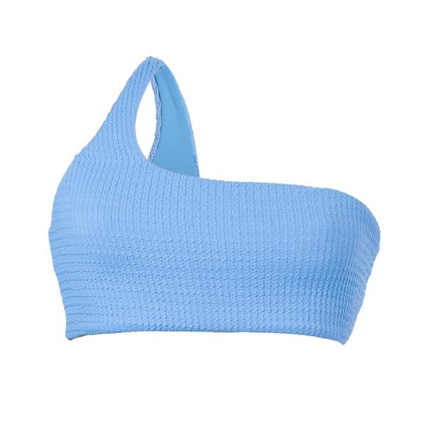 Azul Texturizado - Top Um Ombro Só