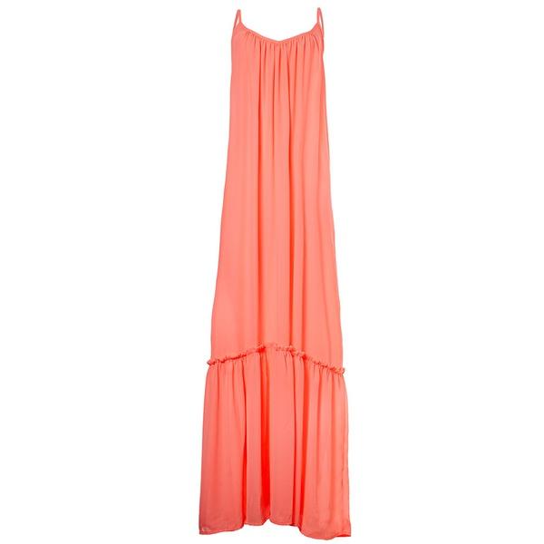 Candy - Vestido Longo Coral Neon