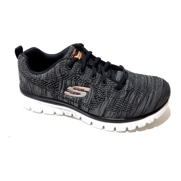 Tênis Feminino Graceful 2.0 TEIGAN Skechers Preto 88888266