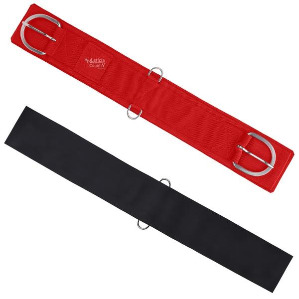 Barrigueira Neoprene Estreita Sport Equine Vermelha 4555