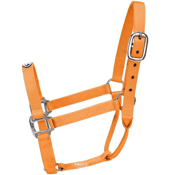 Cabresto para Cavalo Nylon Laranja Boots Horse