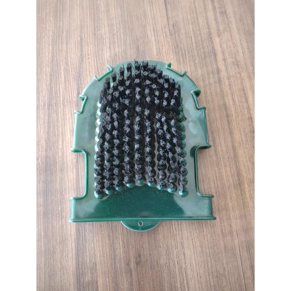 Luva e Escova para Banho Massageador de Borracha Verde 5075