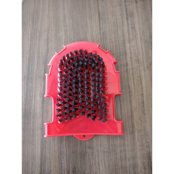 Luva e Escova para Banho Massageador de Borracha Vermelho 5076
