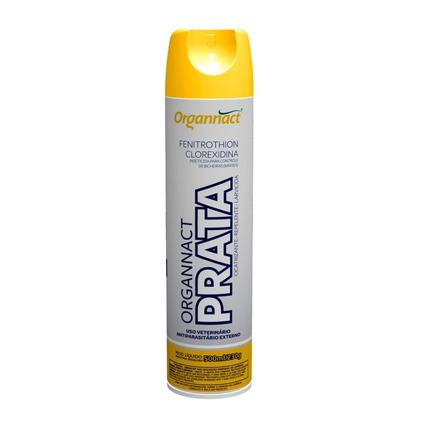 Prata Cicatrizante Repelente Larvicida Spray 500ml Organnact
