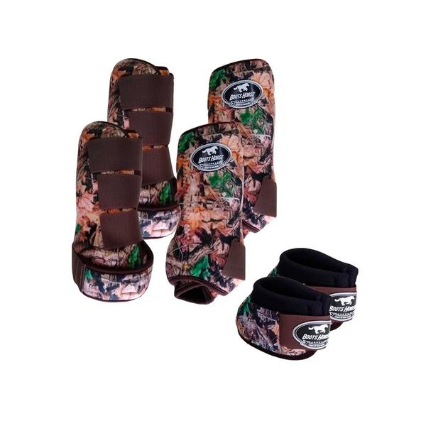 Kit Completo Cloche e Caneleiras Estampado Boots Horse 3747