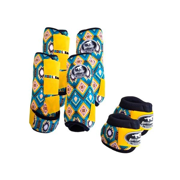 Kit Completo Cloche e Caneleiras Estampado Boots Horse 3760
