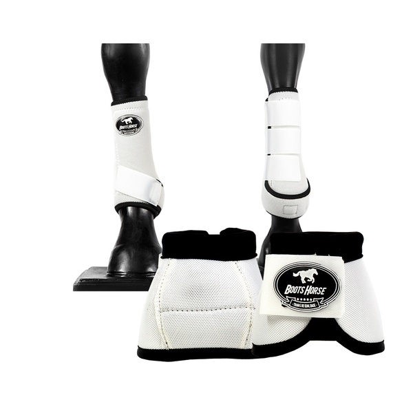 Kit Dianteiro Cloche e Caneleiras Branca Boots Horse 3715