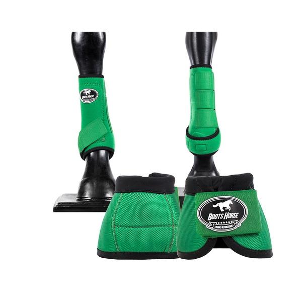 Kit Dianteiro Cloche e Caneleiras Verde Escuro Boots Horse 3710