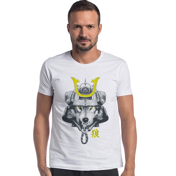 T-shirt Camiseta Lobo Samurai