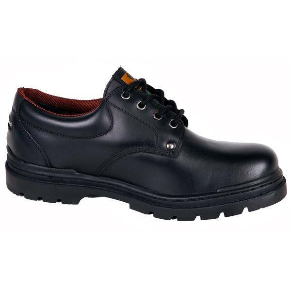 Sapato Adventure Preto Liso de Cano baixo.