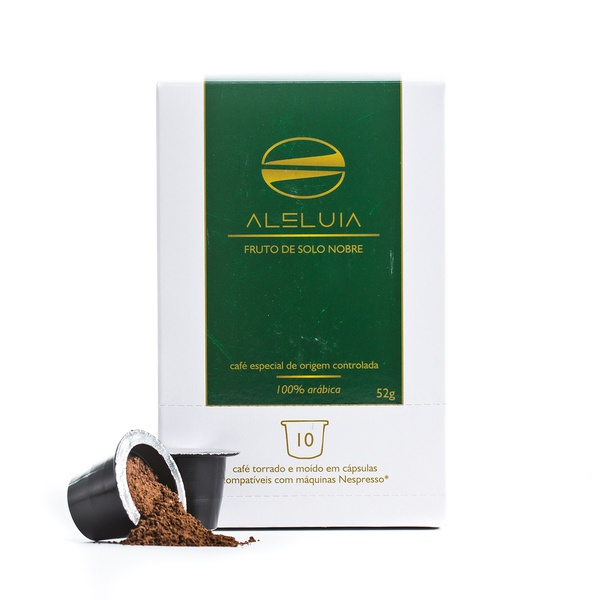 Caixa com 10 Cápsulas de Café Aleluia - compatíveis com nespresso - 52g