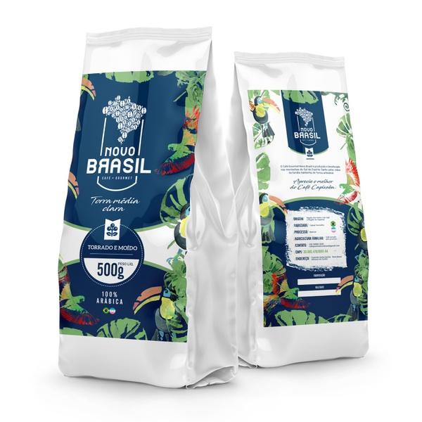 Café Gourmet Novo Brasil - Torrado e Moído - Torra Média/Clara - 500g