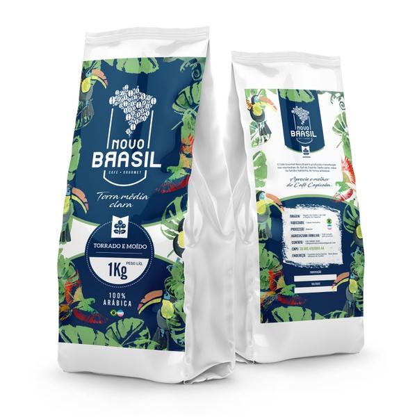 Café Gourmet Novo Brasil - Torrado e Moído - Torra Média/Clara - 1kg