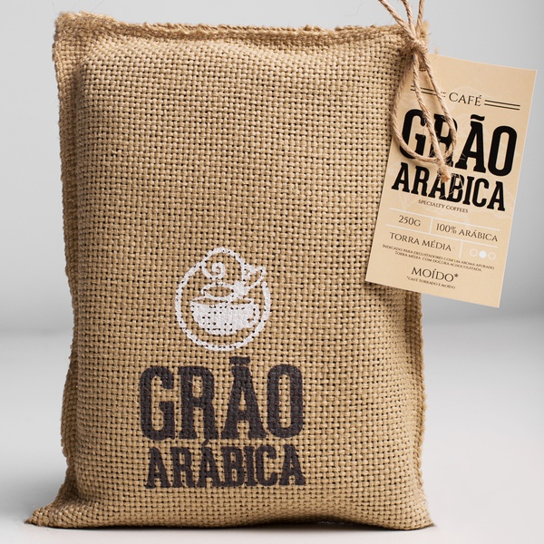 Café Grão Arábica - Torrado e Moído - Torra Média - 250g