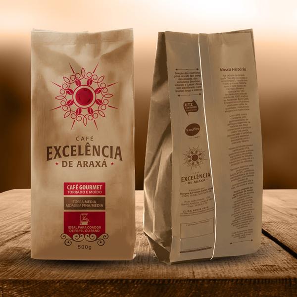 Café Excelência - de Araxá - Café Gourmet torrado e moído 500g