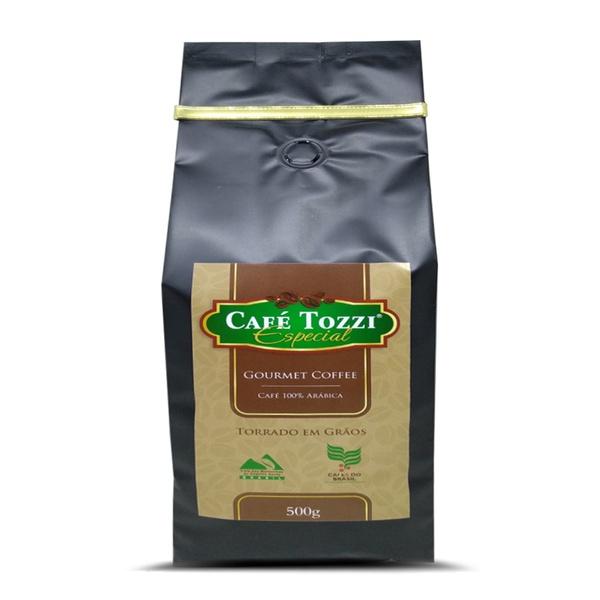 Café Tozzi Gourmet - Café torrado em Grãos - 500g