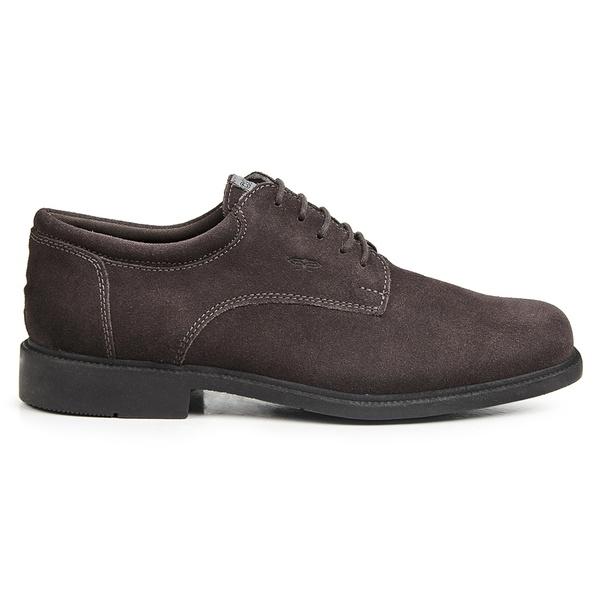 Sapato Calprado de Camurça Café em Couro Legitimo