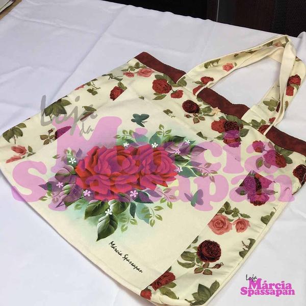 Bolsa Sacola com Rosas