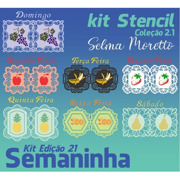 Kit Stencil Coleção Selma Moretto | Semaninha - Edição 21