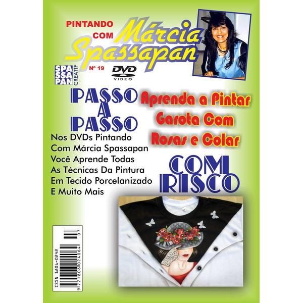 DVD Pintando Com Marcia Spassapan Edição Nº19 - Garota Com Rosas e Colar + Projeto