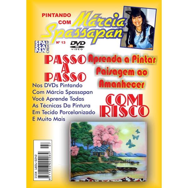 DVD Pintando Com Marcia Spassapan Edição Nº13 - Paisagem ao Amanhecer + Projeto