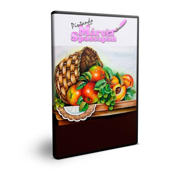 DVD Pintura em Tecido Márcia Spassapan Cesta com Frutas