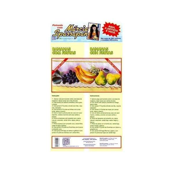 Kit Pano de Copa Márcia Spassapan Frutas Mod. 69
