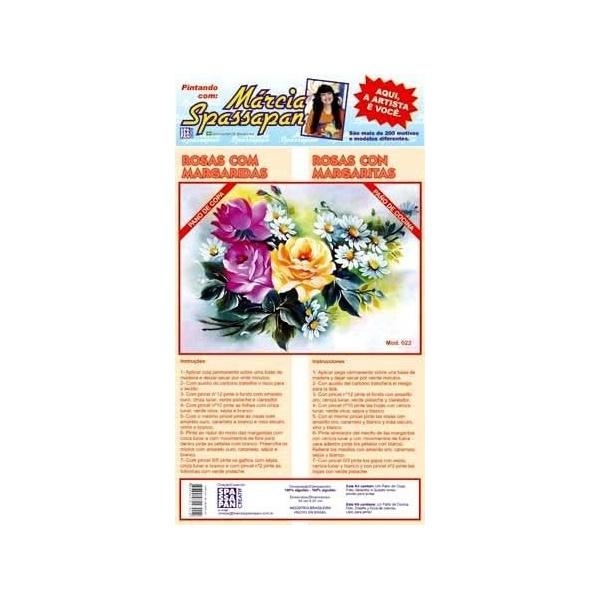 Kit Pano de Copa Márcia Spassapan Floral Mod. 22