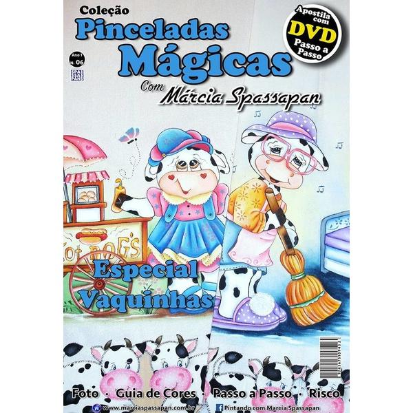 DVD DUPLO Coleção Pinceladas Mágicas Edição 6 com Apostila Vaquinhas