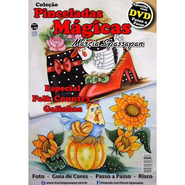 DVD DUPLO Coleção Pinceladas Mágicas Edição 2 com Apostila Galinhas