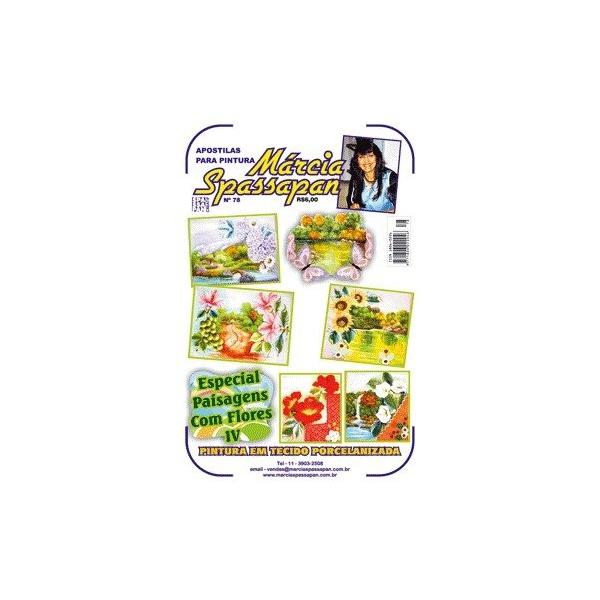Apostila Para Pintura Paisagem Com Flores Edição 78