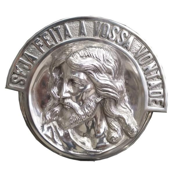 Aplique Rosto de Cristo modelo 2 alumínio