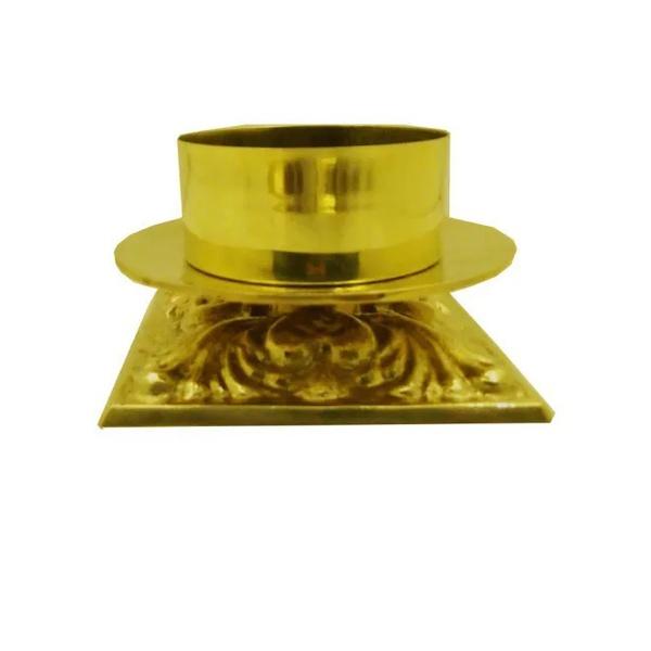Castiçal de Bronze 09 centímetros de altura para vela 9cm