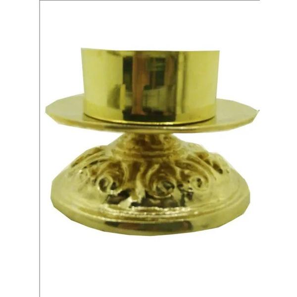 Castiçal Bronze 10 centímetros de altura para vela 9 centímetros