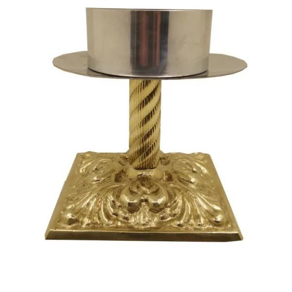 Castiçal de Bronze 16cm Altura e 9 centímetros para Vela