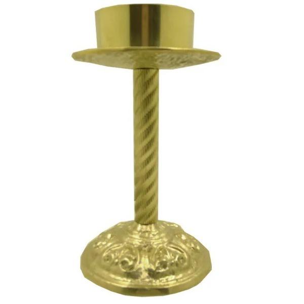 Castiçal de Bronze 28 centímetros de Altura e 9 Centímetros para Vela