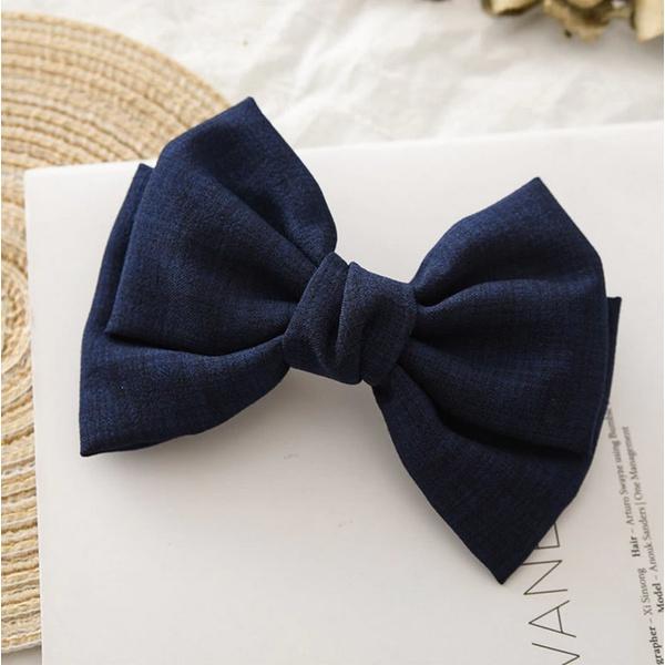 Acessórios de cabelo charmoso azul marinho
