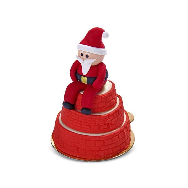 Mini Bolo de Chocolate Papai Noel